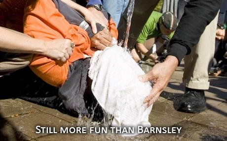 Waterboarding - More fun than being in Barnsley