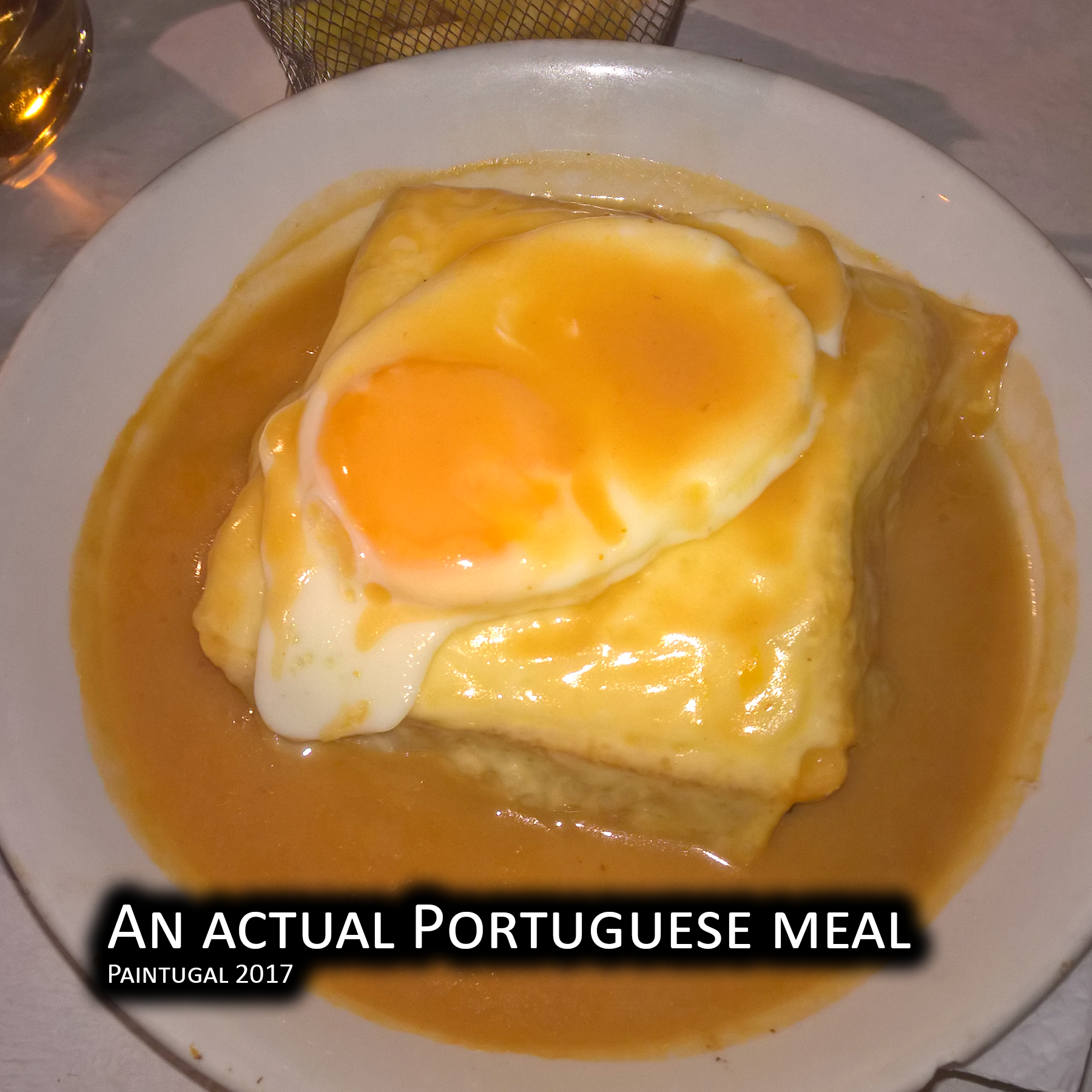 An actual Portuguese meal