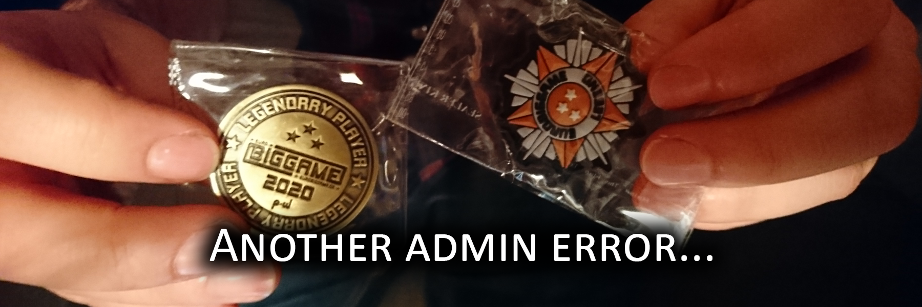 Another admin error...